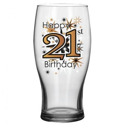 Simon Elvin - Vaso De Cerveza De Regalo Diseño 21 Cumpleaños (tamaño Único) (negro/dorado)