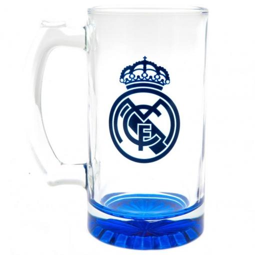 Real Madrid Fc - Jarra De Cerveza Con El Escudo Del Equipo (tamaño Único) (azul)