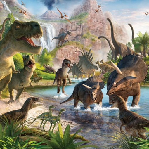 Walltastic Papel De Pared Fotográfico Dinosaur Land 41745