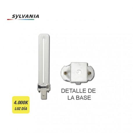 Bombilla Bajo Consumo Lynx-s 9w 840k Luz Dia Casquillo G-23 ''sylvania''