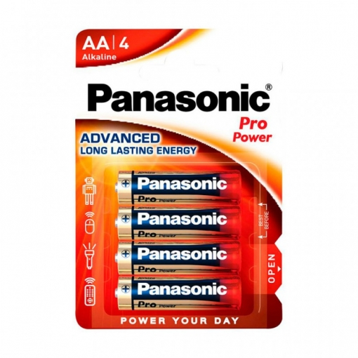 Pila Alkalina  Panasonic Propower Lr-6 Aa (blister 4 Pilas)