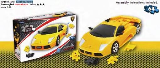 Deportivo Puzzle 3d E3d Lamborghini Murcielago Amarillo Las