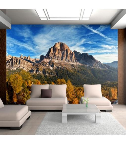 Fotomural - Panorama De Las Dolomitas En Italia , Tamaño - 350x270