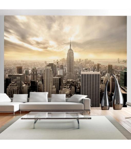 Fotomural - Nueva York - Manhattan Al Amanecer , Tama�o - 350x270
