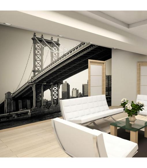Fotomural - Puente De Manhattan, Nueva York , Tama�o - 350x270