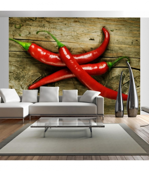 Fotomural - Spicy Chili Peppers , Tama�o - 300x231