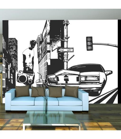 Fotomural - Estilo Urbano: One Way , Tama�o - 400x309