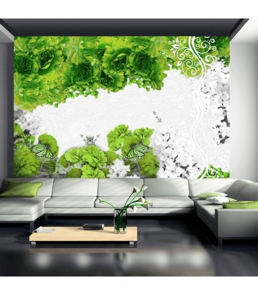 Fotomural - Colores De Primavera: Verde , Tama�o - 400x280