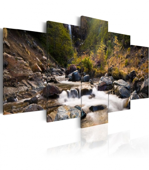 Cuadro - Una Cascada En La Mitad De Naturaleza Salvaje , Tamaño - 100x50