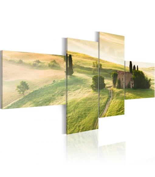 Cuadro - La Tranquilidad De Toscania , Tama�o - 100x45
