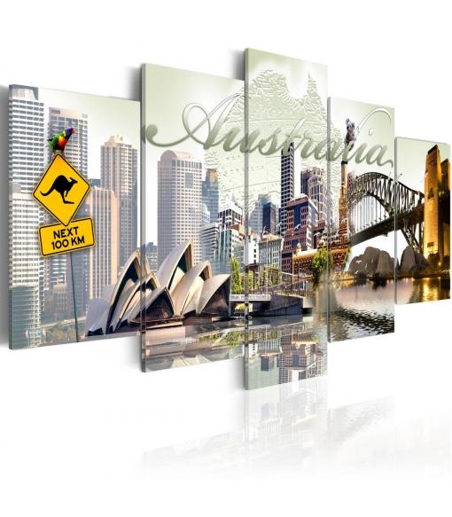 Cuadro - Welcome To Australia! , Tama�o - 200x100