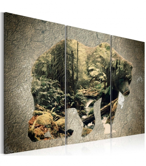 Cuadro - The Bear In The Forest , Tama�o - 120x80