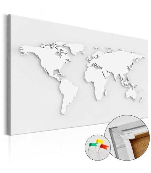 Tablero De Corcho - Monochromatic World [cork Map] , Tama�o - 90x60