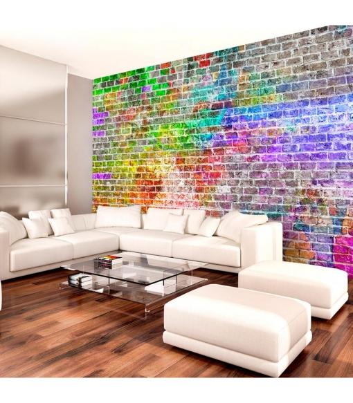 Fotomural - Rainbow Wall , Tama�o - 150x105