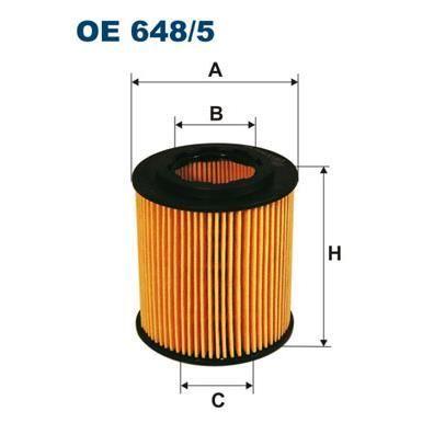 Filtron Filtro De Aceite Oe648 / 5