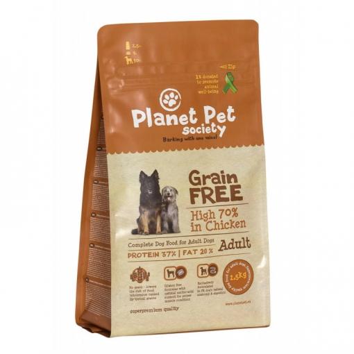 Comida Para Perros Planet Pet Grain Free Pollo Y Patatas  - 2,5kg