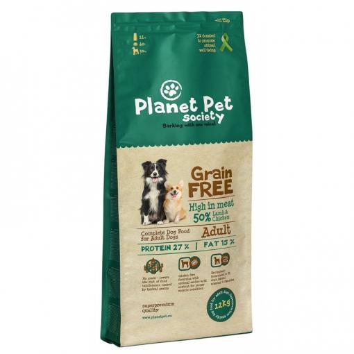 Comida Para Perros Planet Pet Grain Free Cordero Y Patatas - 12kg