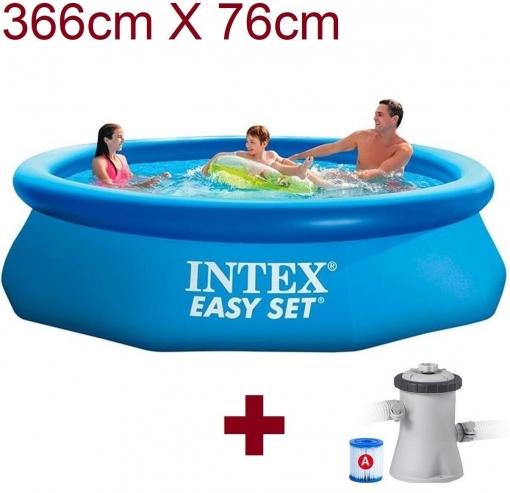 ca93f9629 Piscina Hinchable Intex 366cm X 76cm 12