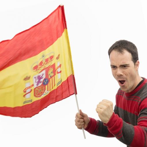 Bandera De España Con Asta (90 X 60 Cm) H2500128
