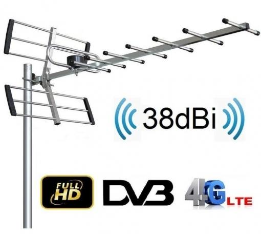 Antena Para Tv Exterior Full Hd Uhf 38 Dbi Tv Tdt Dvb-t Filtro Lte Activa/  Wc-238b con Ofertas en Carrefour | Las mejores ofertas de Carrefour