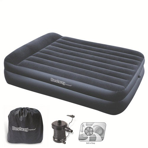 Cama Inflable Doble Con Bomba Exterior 220 V. 203x152x48 Cm - Neoferr