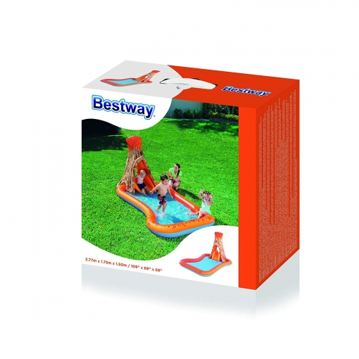 Piscina Hinchable Infantil Isla Volcano Splash 277x175x150 cm Bestway 53063