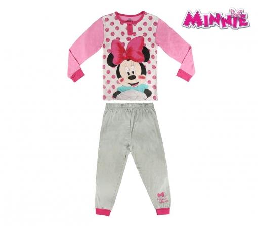 462441368 22-2293 Pijama Invierno Para Niñas Motivo Minnie De Algodón Tallas De 3 A 7