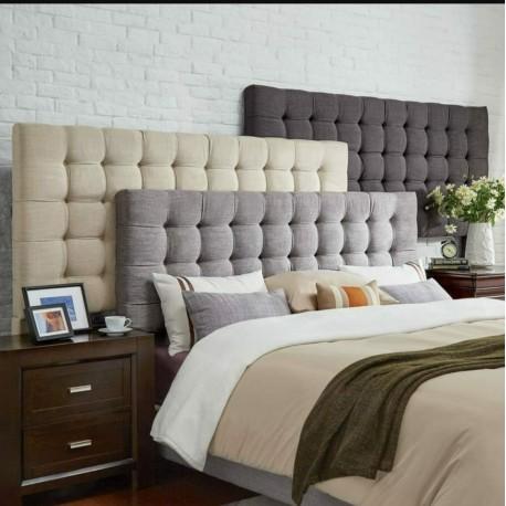 Cabecero cama tapizado moderno canad deluxe 135 cm las for Habitaciones pequenas para adultos