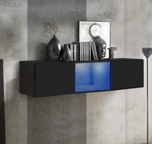 Armario Colgante Modelo Krista H120cc (120x30cm) En Negro