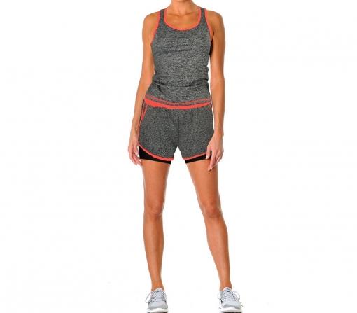 fe3aa001bff8d Kz172 Kz168 Conjunto De Pantalón Corto Y Camiseta Sin Mangas Para La Mujer  Flexy
