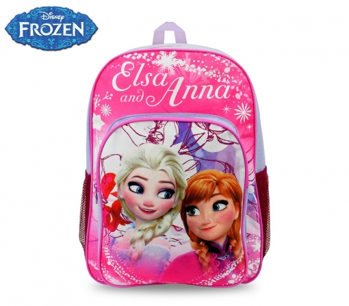Fr16102 Mochila Escolar Adaptable A Carro De Frozen 42x31x12