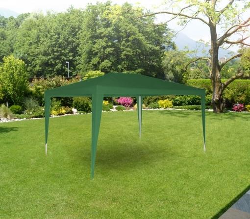 Gr-dl-g7006 Pérgola Para Jardín Con Marco De Acero En Varios Colores (3x3 M)   Verde