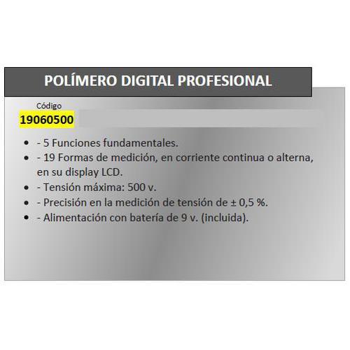 Polimetro Digital Maurer Profesional - Neoferr