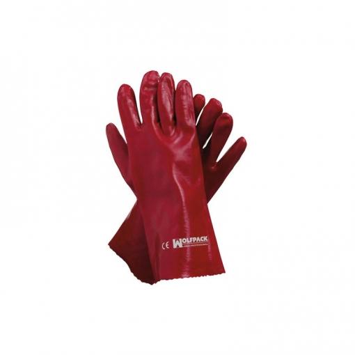 Guante Pvc Rojo 35 Cm. (par)