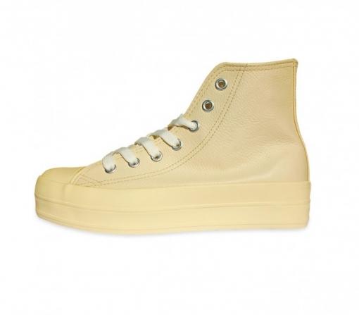 Franky CmBeige Con De Plataforma 35 Cuero 5 Zapatos Modelo 3 orxdCBeW
