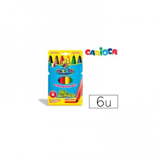 Rotulador Carioca Jumbo C/6 Colores -punta Gruesa   Las mejores ...