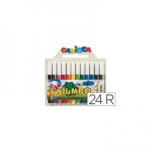 Rotulador Carioca Jumbo C/24 Colores -punta Gruesa   Las mejores ...