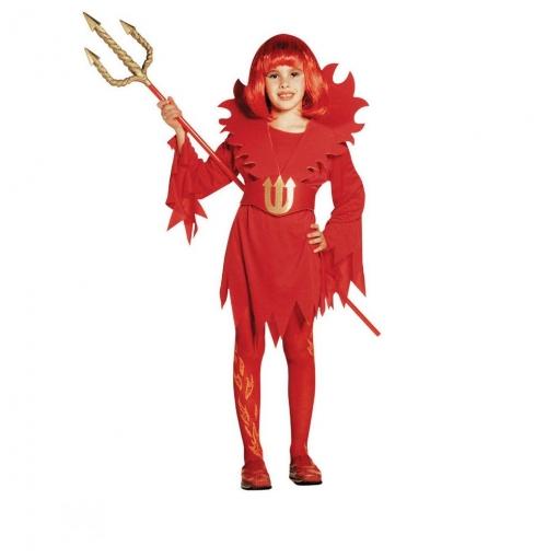 Disfraz Diablesa Llamas Para Niña