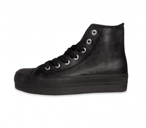 Zapatos modelo FRANKY de cuero con plataforma de 3,5 cm - Beige, 38