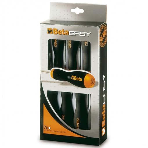 "Beta Tools Easy Set De 7 Destornilladores De Acero 207tx/d7"" 012070207"