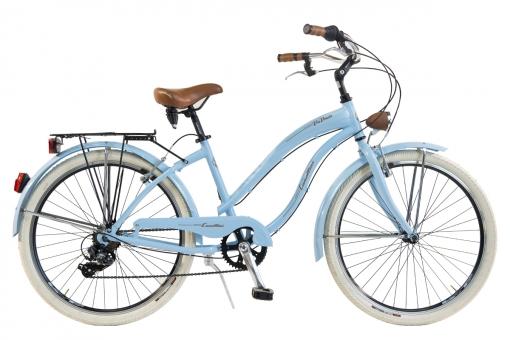 Bicicleta Via Veneto By Canellini Cruiser Alluminium Mujer Azul