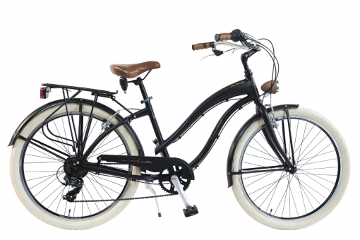 Bicicleta Via Veneto By Canellini Cruiser Alluminium Mujer Negro