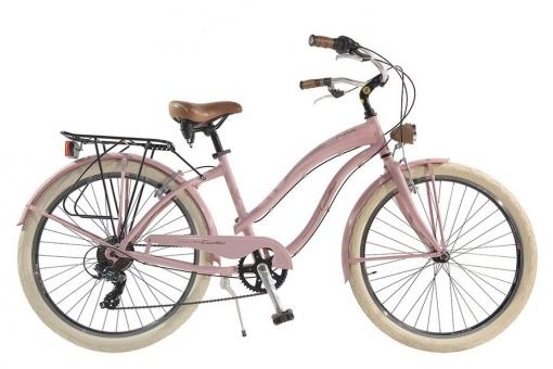 Bicicleta Via Veneto By Canellini Cruiser Alluminium Mujer Rosa