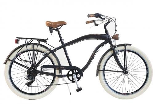 Bicicleta Via Veneto By Canellini Cruiser Alluminium Hombre Negro