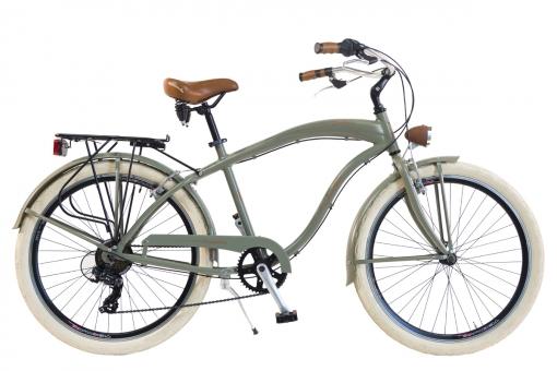 Bicicleta Via Veneto By Canellini Cruiser Alluminium Hombre Verde Matt