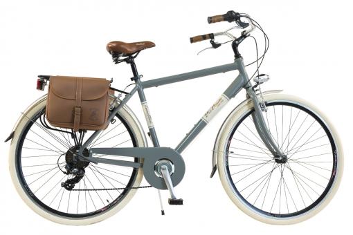 Bicicleta Via Veneto By Canellini Retro Aluminio + Sacs Lateral Hombre Talla 54 Gris