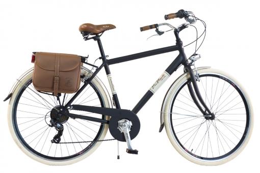 Bicicleta Via Veneto By Canellini Retro Aluminio + Sacs Lateral Hombre Talla 58 Negro