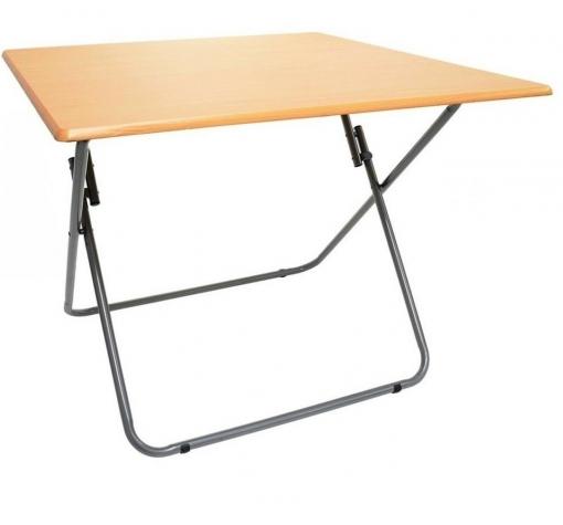 Mesa plegable port til para camping terraza jard n metal y for Mesas de camping plegables carrefour