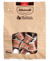 50 Cápsulas Compostables De Café Ecológico Intenso  Debuencafé