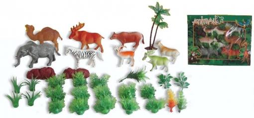 Caja 8 Animales Selva 33x26 | Las mejores ofertas de Carrefour